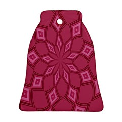 Fusia Abstract Background Element Diamonds Ornament (Bell)