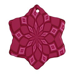 Fusia Abstract Background Element Diamonds Snowflake Ornament (two Sides)