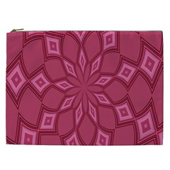 Fusia Abstract Background Element Diamonds Cosmetic Bag (XXL)