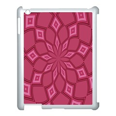 Fusia Abstract Background Element Diamonds Apple Ipad 3/4 Case (white)
