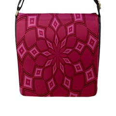 Fusia Abstract Background Element Diamonds Flap Messenger Bag (l)