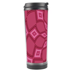 Fusia Abstract Background Element Diamonds Travel Tumbler