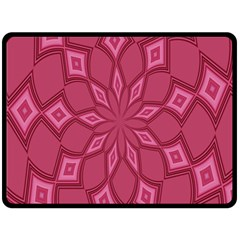 Fusia Abstract Background Element Diamonds Double Sided Fleece Blanket (Large)