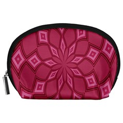 Fusia Abstract Background Element Diamonds Accessory Pouches (large)
