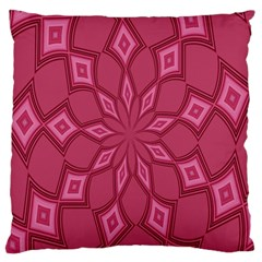 Fusia Abstract Background Element Diamonds Large Flano Cushion Case (one Side)