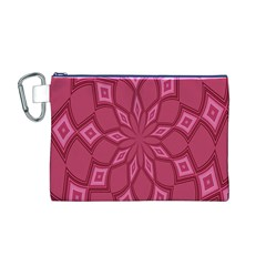Fusia Abstract Background Element Diamonds Canvas Cosmetic Bag (M)