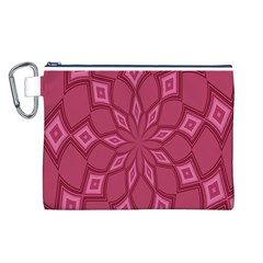 Fusia Abstract Background Element Diamonds Canvas Cosmetic Bag (L)