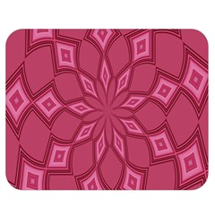 Fusia Abstract Background Element Diamonds Double Sided Flano Blanket (Medium)