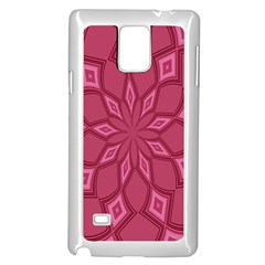 Fusia Abstract Background Element Diamonds Samsung Galaxy Note 4 Case (White)
