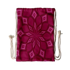 Fusia Abstract Background Element Diamonds Drawstring Bag (Small)