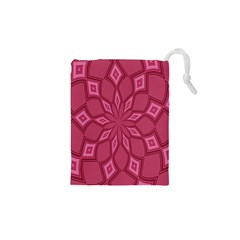 Fusia Abstract Background Element Diamonds Drawstring Pouches (XS)