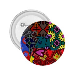 Digitally Created Abstract Patchwork Collage Pattern 2 25  Buttons