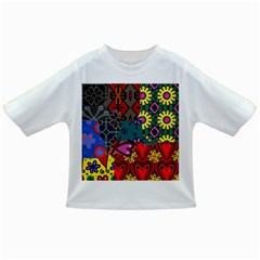 Digitally Created Abstract Patchwork Collage Pattern Infant/Toddler T-Shirts