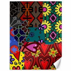 Digitally Created Abstract Patchwork Collage Pattern Canvas 36  x 48