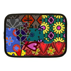Digitally Created Abstract Patchwork Collage Pattern Netbook Case (Medium)