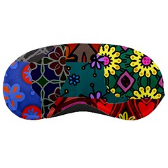 Digitally Created Abstract Patchwork Collage Pattern Sleeping Masks