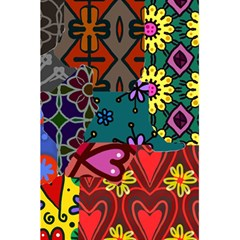 Digitally Created Abstract Patchwork Collage Pattern 5.5  x 8.5  Notebooks
