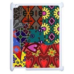 Digitally Created Abstract Patchwork Collage Pattern Apple Ipad 2 Case (white)