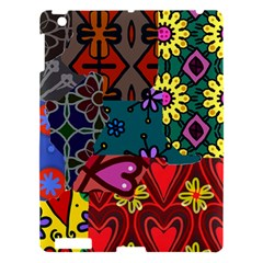 Digitally Created Abstract Patchwork Collage Pattern Apple Ipad 3/4 Hardshell Case