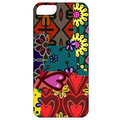 Digitally Created Abstract Patchwork Collage Pattern Apple Iphone 5 Classic Hardshell Case