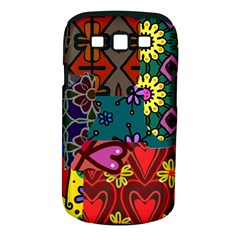 Digitally Created Abstract Patchwork Collage Pattern Samsung Galaxy S Iii Classic Hardshell Case (pc+silicone)