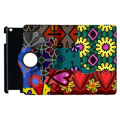 Digitally Created Abstract Patchwork Collage Pattern Apple Ipad 3/4 Flip 360 Case