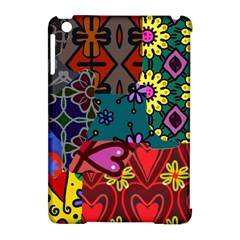 Digitally Created Abstract Patchwork Collage Pattern Apple iPad Mini Hardshell Case (Compatible with Smart Cover)