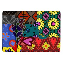 Digitally Created Abstract Patchwork Collage Pattern Samsung Galaxy Tab 10.1  P7500 Flip Case
