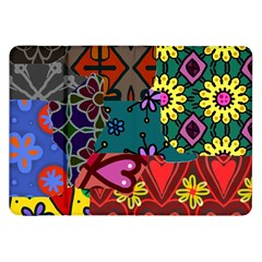 Digitally Created Abstract Patchwork Collage Pattern Samsung Galaxy Tab 8 9  P7300 Flip Case