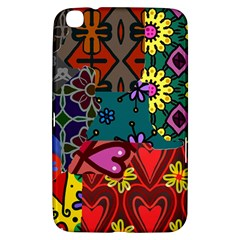Digitally Created Abstract Patchwork Collage Pattern Samsung Galaxy Tab 3 (8 ) T3100 Hardshell Case