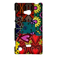 Digitally Created Abstract Patchwork Collage Pattern Nokia Lumia 720