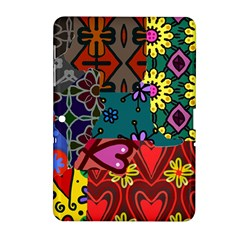 Digitally Created Abstract Patchwork Collage Pattern Samsung Galaxy Tab 2 (10 1 ) P5100 Hardshell Case