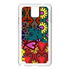 Digitally Created Abstract Patchwork Collage Pattern Samsung Galaxy Note 3 N9005 Case (white)