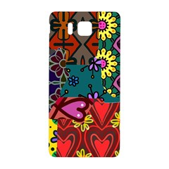 Digitally Created Abstract Patchwork Collage Pattern Samsung Galaxy Alpha Hardshell Back Case