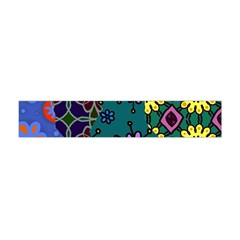 Digitally Created Abstract Patchwork Collage Pattern Flano Scarf (Mini)