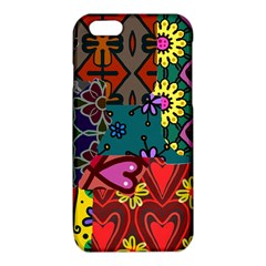 Digitally Created Abstract Patchwork Collage Pattern iPhone 6/6S TPU Case