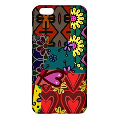 Digitally Created Abstract Patchwork Collage Pattern Iphone 6 Plus/6s Plus Tpu Case