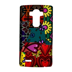 Digitally Created Abstract Patchwork Collage Pattern LG G4 Hardshell Case