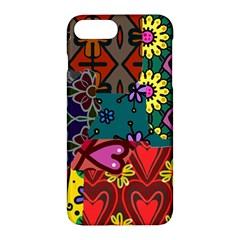 Digitally Created Abstract Patchwork Collage Pattern Apple iPhone 7 Plus Hardshell Case