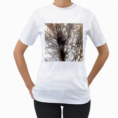 Tree Art Artistic Tree Abstract Background Women s T Shirt (white) (two Sided)