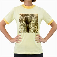 Tree Art Artistic Tree Abstract Background Women s Fitted Ringer T Shirts