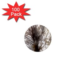 Tree Art Artistic Tree Abstract Background 1  Mini Magnets (100 Pack)