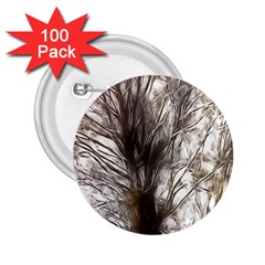 Tree Art Artistic Tree Abstract Background 2.25  Buttons (100 pack)