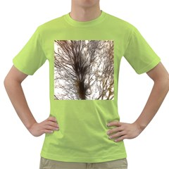 Tree Art Artistic Tree Abstract Background Green T-Shirt