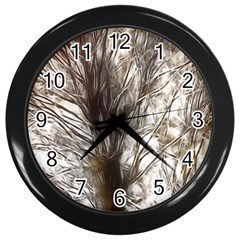 Tree Art Artistic Tree Abstract Background Wall Clocks (Black)
