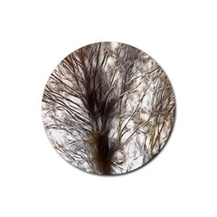 Tree Art Artistic Tree Abstract Background Rubber Coaster (Round)