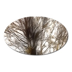 Tree Art Artistic Tree Abstract Background Oval Magnet