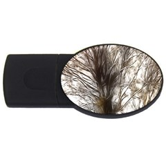 Tree Art Artistic Tree Abstract Background USB Flash Drive Oval (2 GB)