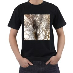 Tree Art Artistic Tree Abstract Background Men s T-Shirt (Black) (Two Sided)