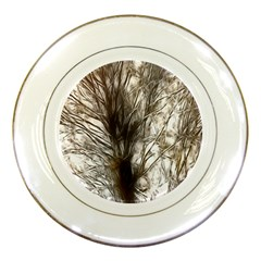 Tree Art Artistic Tree Abstract Background Porcelain Plates